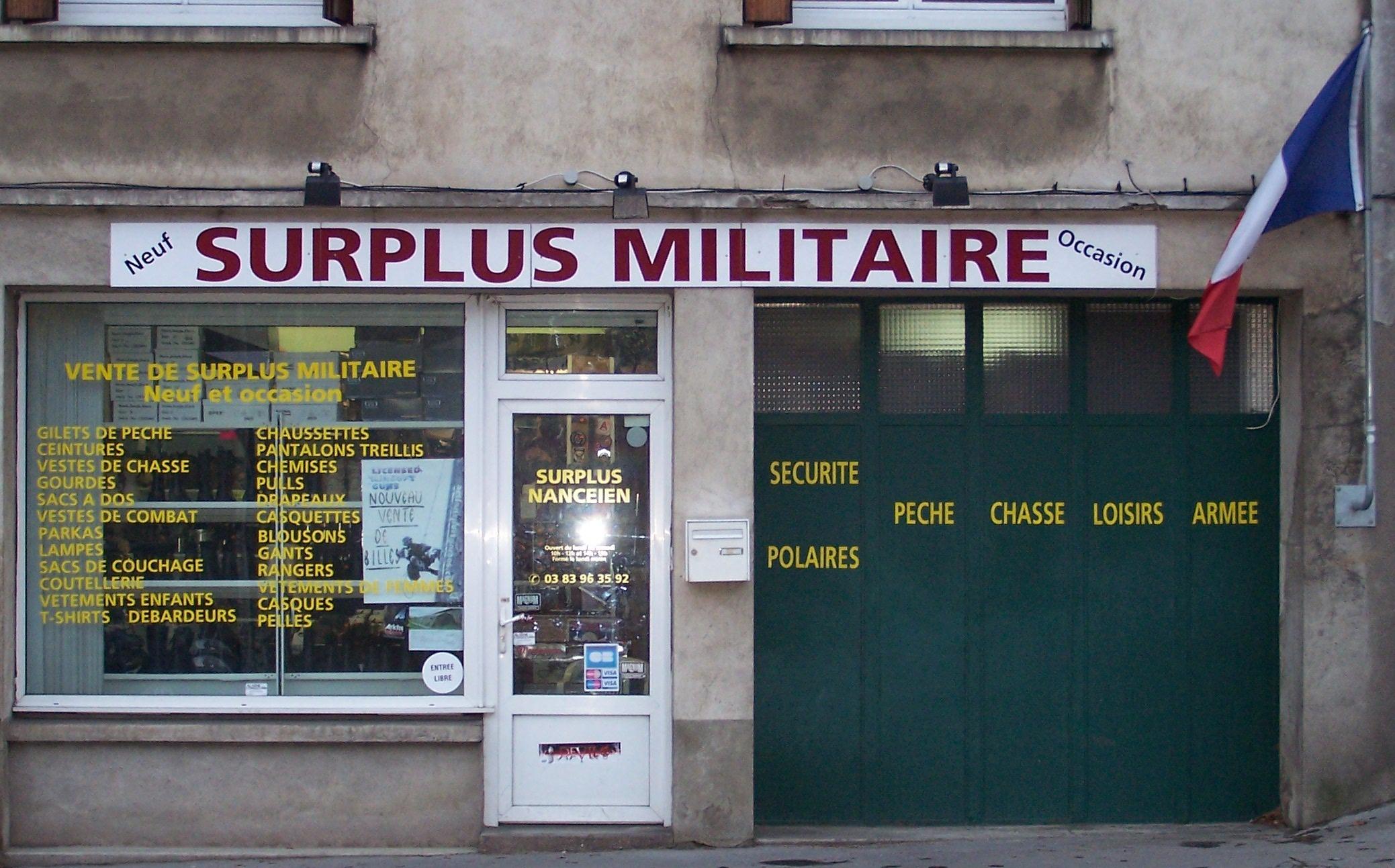 votre magasin de surplus militaire nancy toul et lun ville en meurthe et moselle. Black Bedroom Furniture Sets. Home Design Ideas